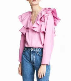 h&m ruffled blouse