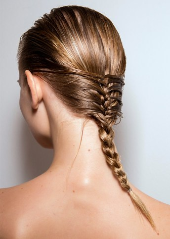 fishtail braided into regular braid