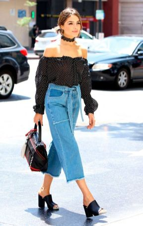 mules and jeans