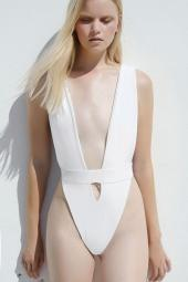 v cut swimsuit