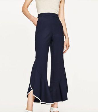 zara frill trousers