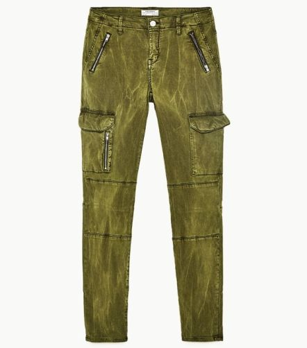 zara mid rise cargo trousers