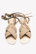 karpathos sandals light brown