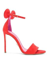 minnie sandals in red suede