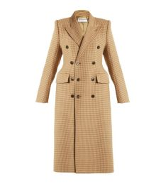 balenciaga hourglass double breasted coat