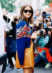leather camel skirt
