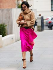 cashmere and statement skirt