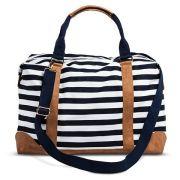 target-navy-white-striped-weekender-bag