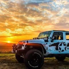 autocolantare masina autocolant jeep rubicon wrangler productie publicitara top advertising