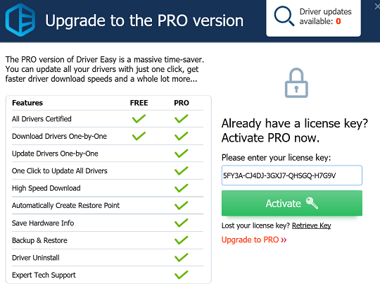 Driver Easy Pro Key 2019 Serial Free Download for 1Year