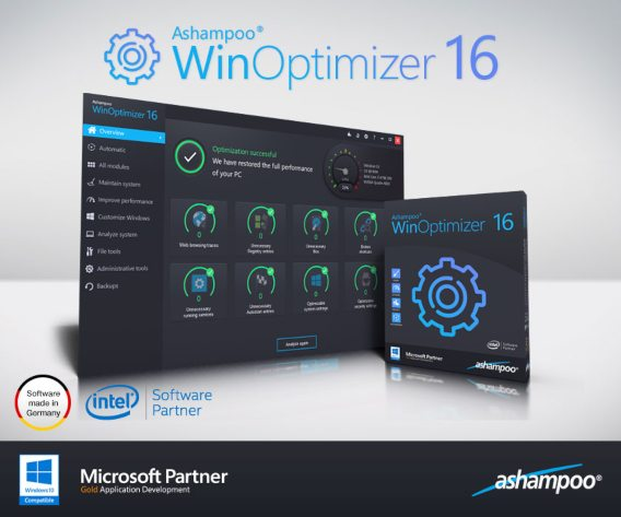 Ashampoo WinOptimizer 16 License Key Serial Free Download 2019