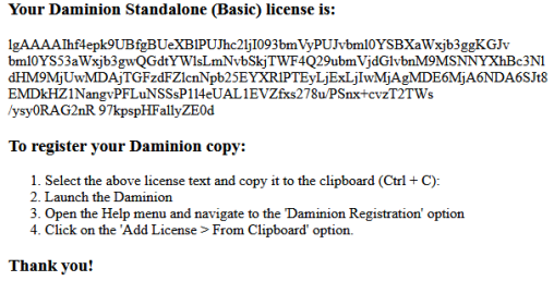 Daminion Basic Serial Key