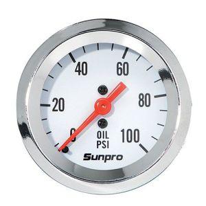 Sunpro CP8206 StyleLine Mechanical Oil Pressure Gauge