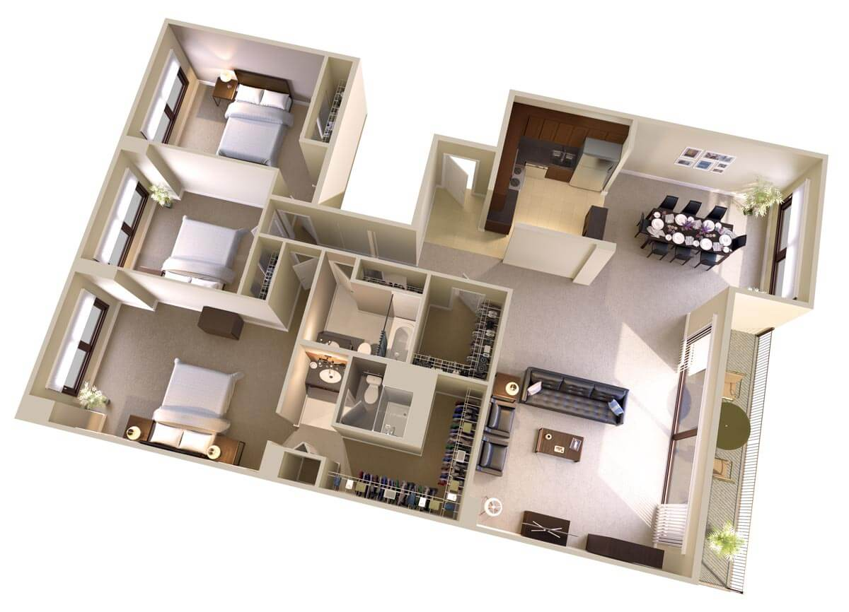 Three Bedroom, Two Bath Apartments In Bethesda Md