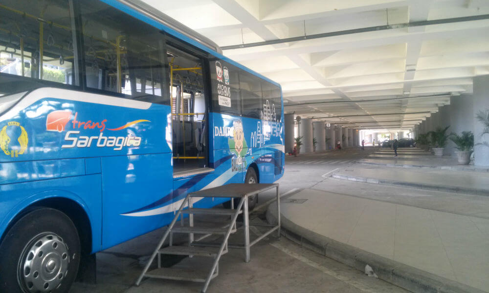 Sarbagita Bus at Bali Ngurah Rai International Airport