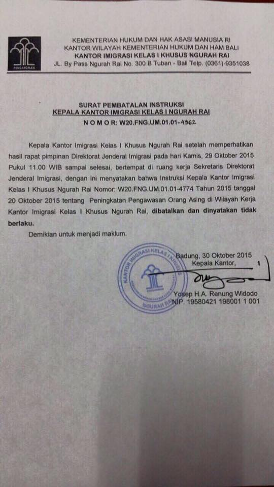 Indonesia Visa On Arrival Limitations Cancelled Top Bali