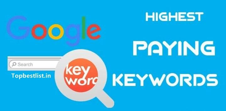 high paying/CPC keywords for Adsense