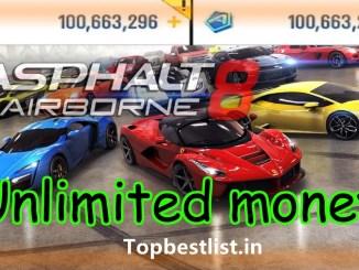 Asphalt 8 Airborne unlimited money Latest mod apk