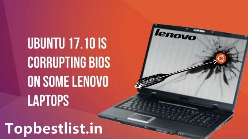 Linux Ubuntu v17.10 update bug in Lenovo bios
