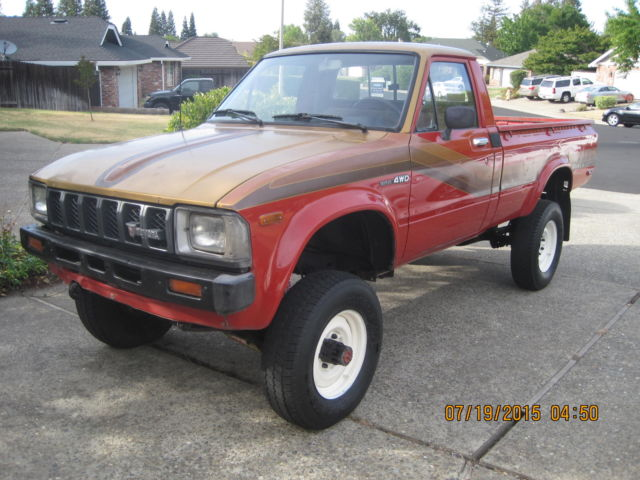 1982 Toyota Pickup 4x4 Rust Free Original Paint Books And Spare