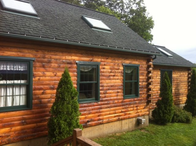 Exterior: Wood Restoration: How To Strip A Log Cabin Exterior