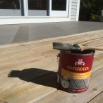 Elastomeric Coating for Old Pressure Treated Decks