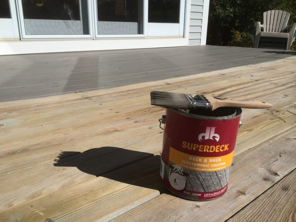 Elastomeric coating for old pressure treated decks topcoatreview for One coat exterior paint reviews