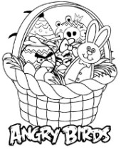 Easter coloring pages with Angry Birds