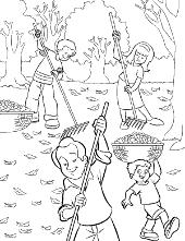 Children colouring books Autumn