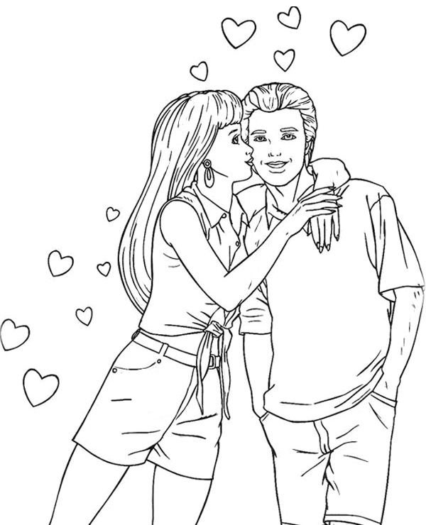 Barbie Logo Coloring Pages : Chelsea barbie coloring page
