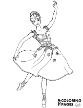 barbie as a dancer barbie with horse coloring page - Barbie Coloring Pages Print