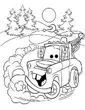 Coloring pages from Cars