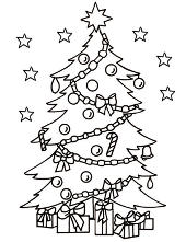 Christmas trees coloring books