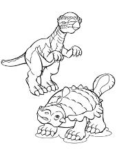Dinosaurs coloring books for children