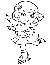 Coloring page with dora