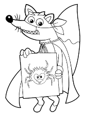 swiper the fox coloring pages - photo#19