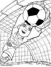 Football goalkeeper coloring page