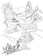 Polar landscape coloring books