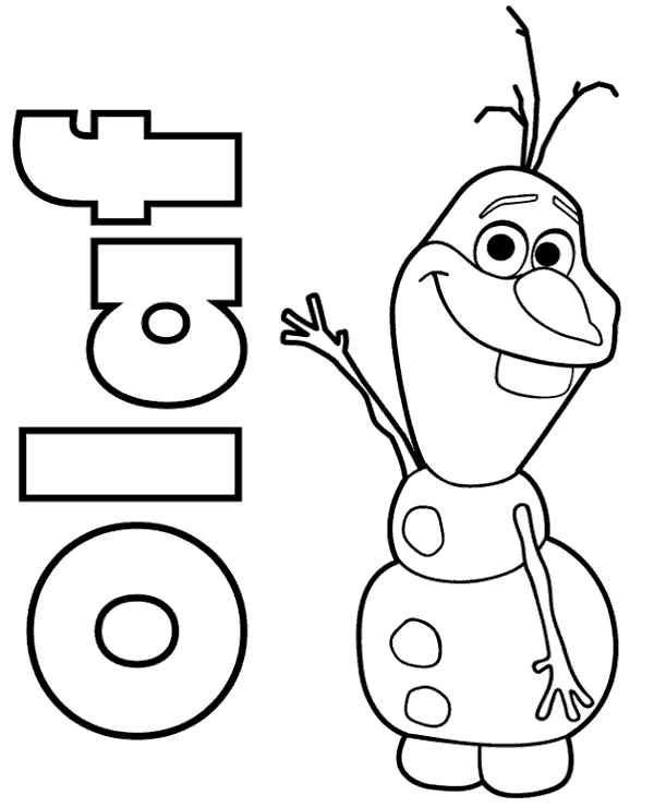 Coloring Sheet Presenting Snowman Olaf Print Now