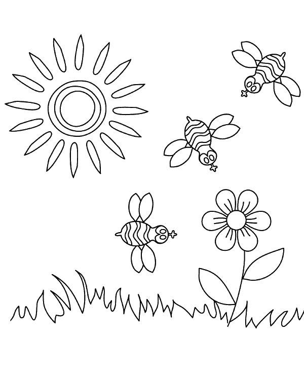 Sunny Weather Coloring Page For Children Topcoloringpages Net