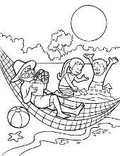 Holiday children colouring page