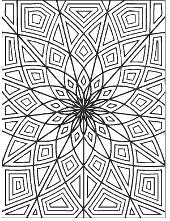 Mosaic coloring sheet
