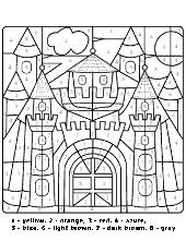 Castle coloring psges
