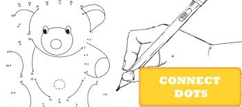 Connect dots coloring pages