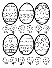 Easter eggs to color