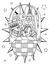 Easter coloring sheet for kids