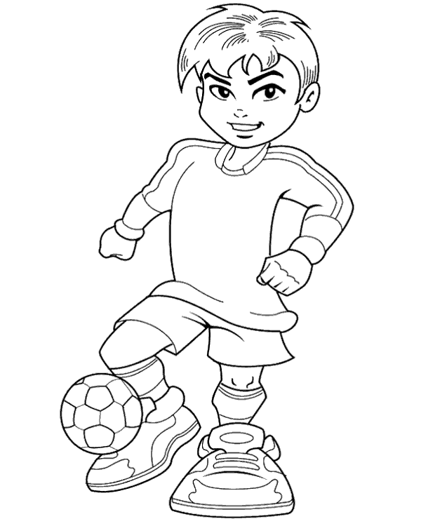 High Quality Football Colouring Books 20 To Print For Free
