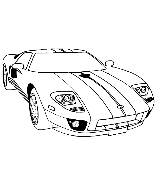 Dodge Viper Free Coloring Page To Print Or Download For Free