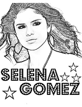 Selena Gomez print and color