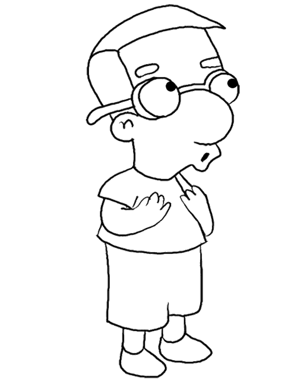 bart simpson  free coloring pages